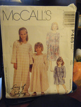 McCall's P465 Girl's Nightgown, Jumpsuit & Slippers Pattern - Size S (6-7) - £6.82 GBP
