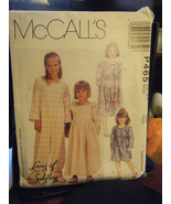 McCall's P465 Girl's Nightgown, Jumpsuit & Slippers Pattern - Size S (6-7) - $8.91