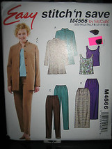 McCall's #M4566 Misses Shirt-Jacket/Tank Top/Skirt/Pants Pattern-Sz 12/1... - $5.35