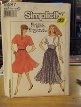 Simplicity 8487 Misses Dress in 2 Lengths Pattern - Size 10/12/14 - $7.13