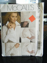 McCall's M5471 Misses Variety of Shirts Pattern - Size 6/8/10/12/14 - $8.90