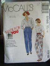 McCall's 5166 Misses Pants Pattern - Size 12 Waist 26 1/2 - $4.99