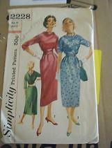 Vintage 1950's Simplicity 2228 Dress & Cummerbund Pattern - Size 13 Bust 33 - $15.16