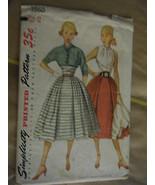 Vintage 1950's Simplicity 3860 Blouse, Skirt & Jacket Pattern - Size 14 Bust 32 - $17.83