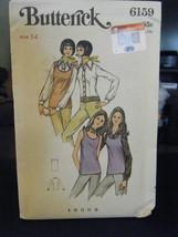 Vintage Butterick 6159 Misses Blouse & Top Pattern - Size 14 Bust 36 - $6.24