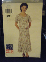 Butterick See & Sew 5071 Misses Top & Skirt Pattern - Size XS/S/M - $6.24