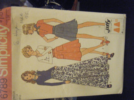 Simplicity 6789 Back Wrap Skirt in 3 Lengths & Scarf Pattern - Size M (1... - $6.24