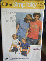 Vintage Simplicity 6309 Misses T-Shirt in 2 Lengths Pattern -Size 14 Bus... - $7.13