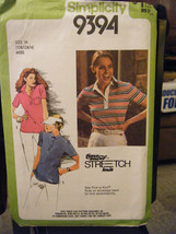 Vintage Simplicity 9394 Misses Pullover Top Pattern - Sizes 10/12/14 - $7.55