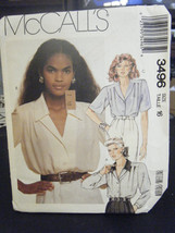McCall's 3496 Misses Blouses Pattern - Size 16 - $6.24