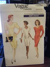 Vintage Vogue 7155 Misses Dress Pattern - Sizes 8/10/12 - $8.91