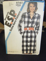 Simplicity 6161 Misses Button Front Dress Pattern - Size 8 & 10 - $6.24