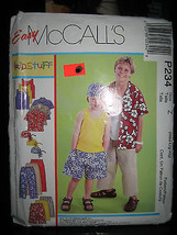 McCall's #P234 Child's Shirt/Tank/Shorts/Cropped Pants/Scarf Pattern-Siz... - $4.46