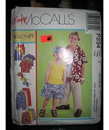 McCall's #P234 Child's Shirt/Tank/Shorts/Cropped Pants/Scarf Pattern-Siz... - $4.46