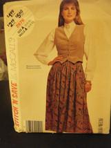 McCall's Stitch'n Save 2676 Misses Vest & Skirt Pattern - Size 6/8/10 - $5.35