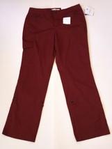 Brown Convertible Pants 12 Avg Croft And Barrow New Natural Fit Leg Red ... - $11.87