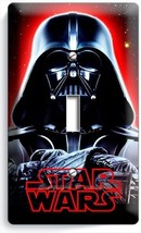Darth Vader Red Glow Halmet Star Wars Dark Force Single Light Switch Cover Decor - $10.99