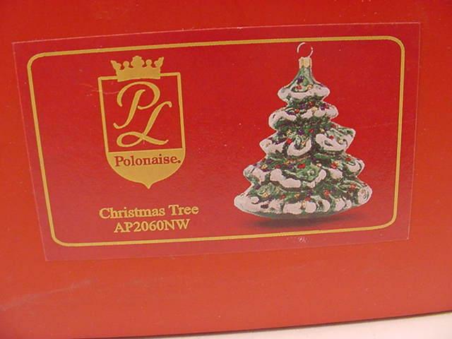 Kurt Adler AP2060NW Large Christmas Tree Glass Christmas Ornament New