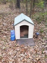 Outdoor Dog House Large Pet Shelter Durable Resin All Weather Kennel Del... - $94.99
