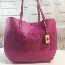 NWT Ralph Lauren 'Littlebury' Pink Gold Reversible Tote Handbag Purse Wr... - $69.35