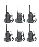 6 Pack Two Way Radio 16 Channel Frequency 400 to 470 MHz With CTCSS/DCS ... - $74.65