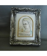 Our Lady Medjugorje Silver Raised Portrait Framed Stand Alone High Quality - $19.99