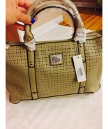 Piju Perforated Designer Teacher Work Travel Handbag / Satchel Pale Bron... - $59.39