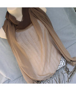 Sheer Brown Hues Huit Scarf Wrap - $15.00