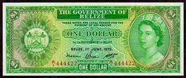 """BELIZE P33b """"QUEEN ELIZABETH II"""" $1 1975 RAW UNCIRCULATED!  - $175.00"""