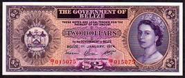 """BELIZE P34a """"QUEEN ELIZABETH II"""" $2 1974 RAW UNCIRCULATED!  - $395.00"""