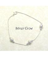 Sterling Silver Bead & Chain Bracelet - $19.99