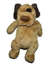"""Michaels 2003 Brown Two Tone Plush Potbelly Dog Patch 10"""" Stuffed Animal - $14.25"""