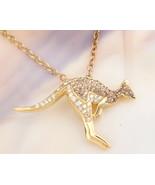 Animal Planet™ Australia Kangaroo Crystal 14K Yellow Gold Over Sterling ... - $19.99
