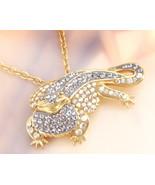 Animal Planet™ Australia Crystal Dragon 14K Yellow Gold Over Sterling Si... - $19.99