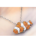 Animal Planet™ Australia Clownfish Crystal Sterling Silver Pendant Necklace - $19.99