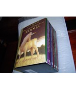 *VERY GOOD* THE CHRONICLES OF NARNIA by C. S. Lewis 7 PAPERBACKS IN SLIP... - $18.52