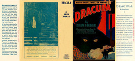 Bram Stoker DRACULA facsimile dust jacket for G... - $21.78