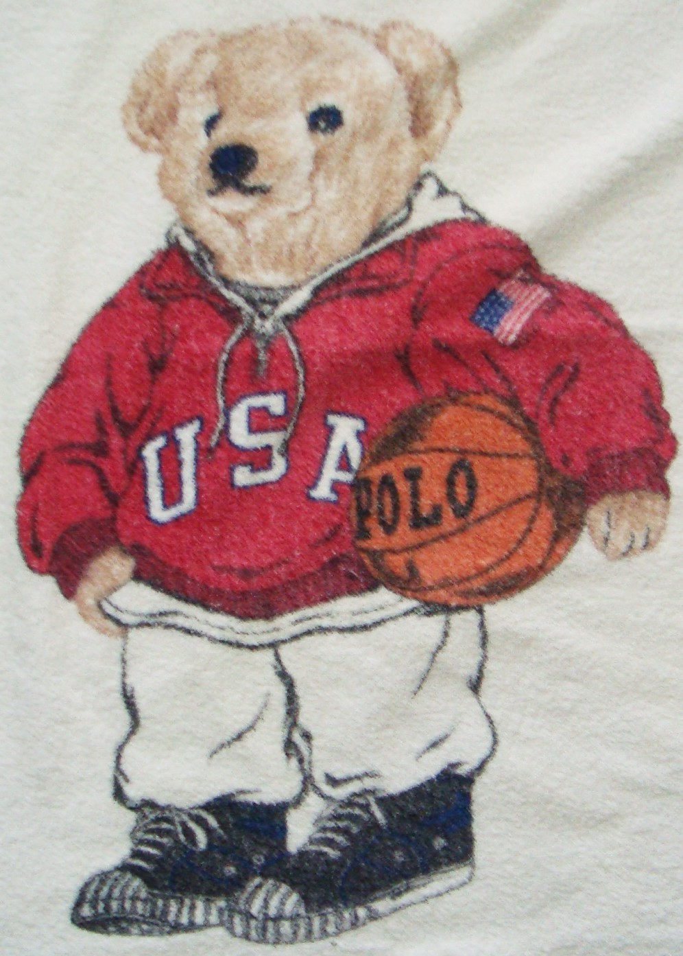 Vintage Polo Ralph Lauren Sport Teddy Bear Beach Towel 68