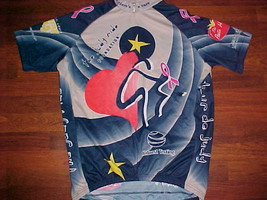 Verge Club The Judy Ride Foundation Pink Ribbon Black Mens Cycling Jersey XL - $24.74