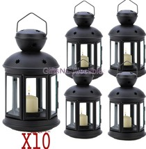 10 Matte Black Colonial Votive Candle Lamps Wedding Centerpieces Events - $74.79