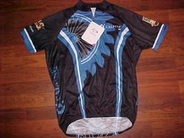 Primal 2014 Calpine Stop MS Blue Black White Mens Cycling Bike Jersey M New - $34.64