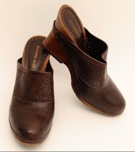 Gianni Bini Brown Leather Slip On Heel Womens S... - $29.95