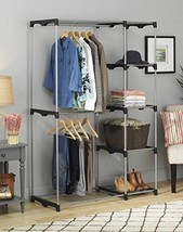 Portable Closet Organizer Storage Rack Wardrobe... - $54.99