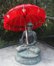 Umbrella s Bali nese Two (2) ornamental Bali Indonesia approx 7' x 3' (o... - $325.00