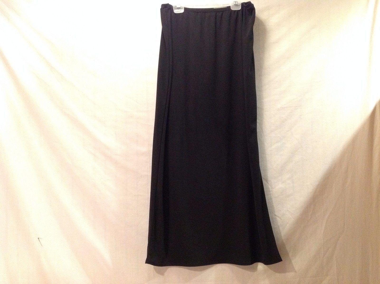 Great Condition Amanda Smith Medium Black Skirt Slit 100% Polyester