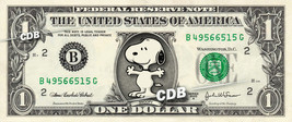 SNOOPY on a REAL Dollar Bill Cash Money Collectible Memorabilia Celebrit... - $5.55
