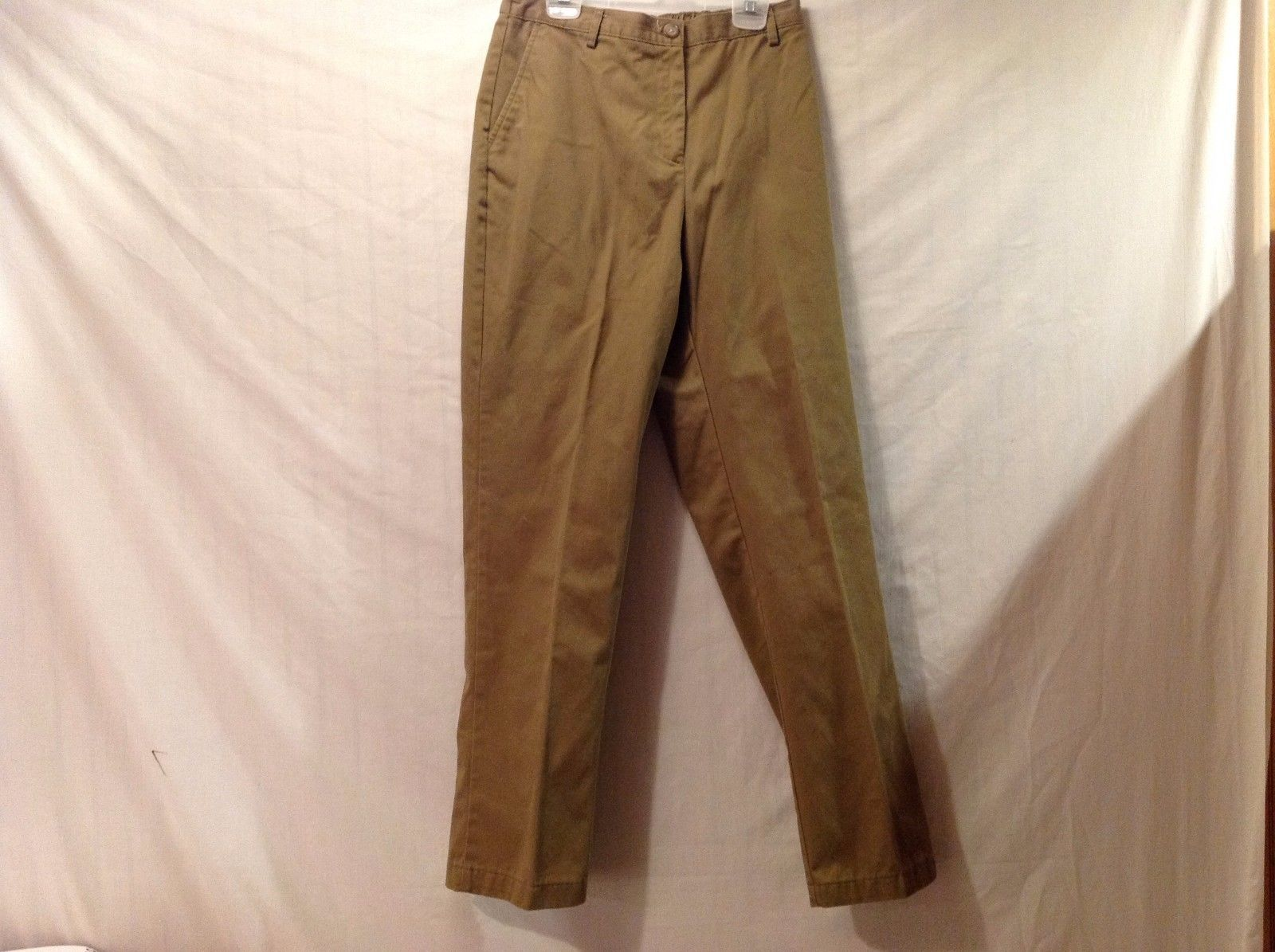 Great Condition Land's End Cotton Blend Dark Tan Elastic Waist Pants 6P