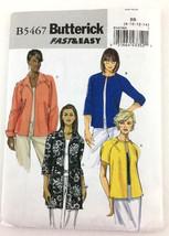 Butterick Jacket Fast Easy Misses Sewing Pattern Uncut Unlined Sz 8-14 P... - $6.56
