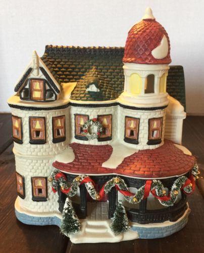 Noma Christmas Decorations: Noma 1997 Christmas Village Ceramic House Building Holiday