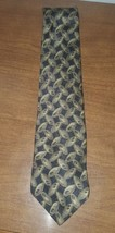 Bill Blass signature Brown Gray Geometric Classic Silk Mens Neck Tie - $10.37